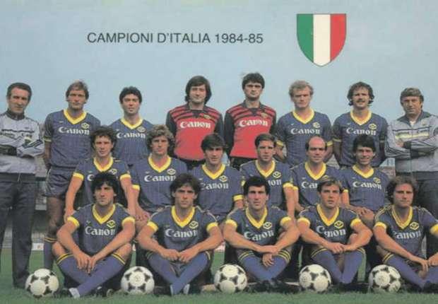 Nel 1985 lo scudetto del Verona di Bagnoli