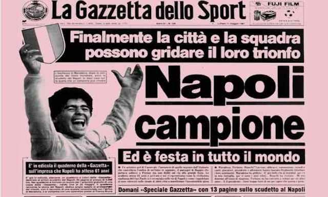 Era il 10 maggio del 1987, il Napoli entrava nella storia